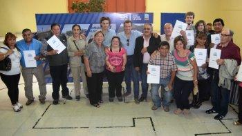 La ceremonia de entrega de títulos que se realizó ayer en el Centro de Exposición Turística.