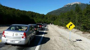 rutas colapsadas en los pasos a chile