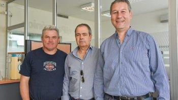 Juan Turk, José Martínez y Carlos Borelli anticiparon lo que será este fin de semana el 1° Torneo de la Federación de Golf del Chubut.