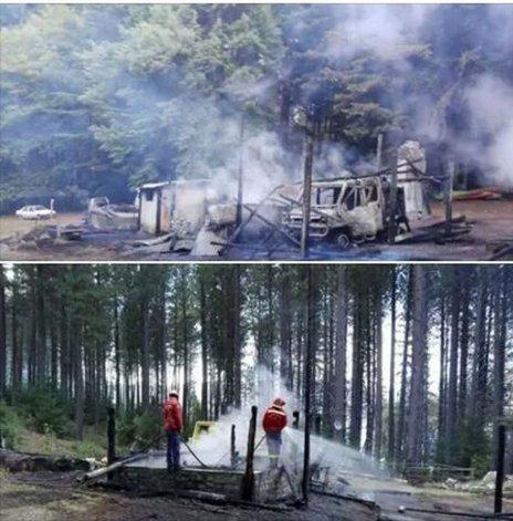 Un incendio destruyó la base operativa en Puerto Patriada