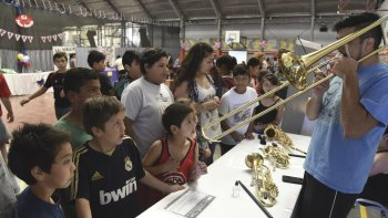 La muestra anual de las actividades de Patio Abierto que se realizó a fines de noviembre en el colegio Domingo Savio.