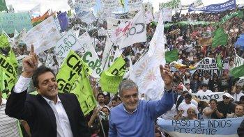 Das Neves compartió con Massa el acto para celebrar su primer año de gobierno.