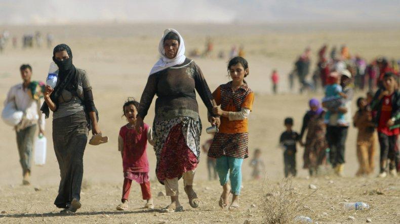 Los habitantes sirios que se ven obligados a desplazarse de su territorio.