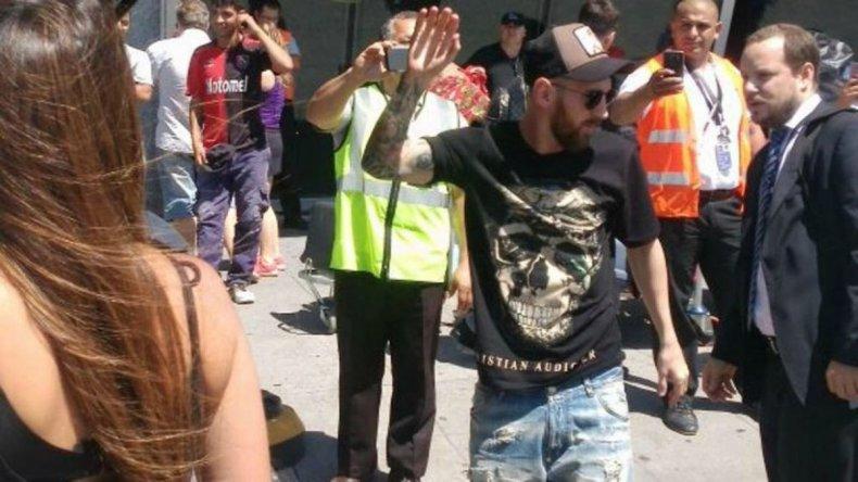 Messi llegó a Rosario para pasar las fiestas