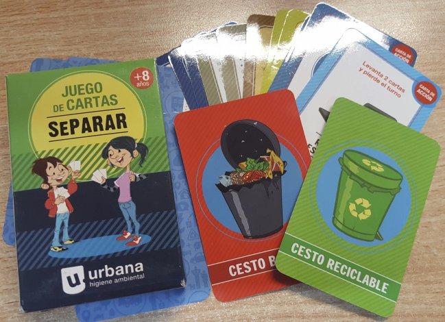 El juego de cartas Separar es la tercera iniciativa didáctica de diversión y de concientización que lanza Urbana Higiene Ambiental.