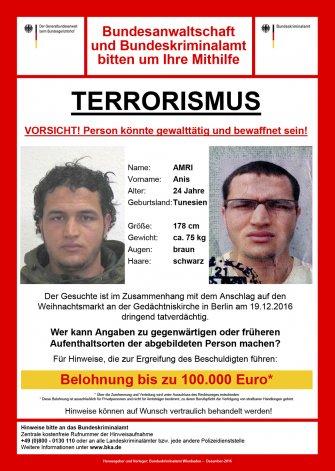 Alemania se lanza a la búsqueda de un tunecino por el atentado en Berlín.