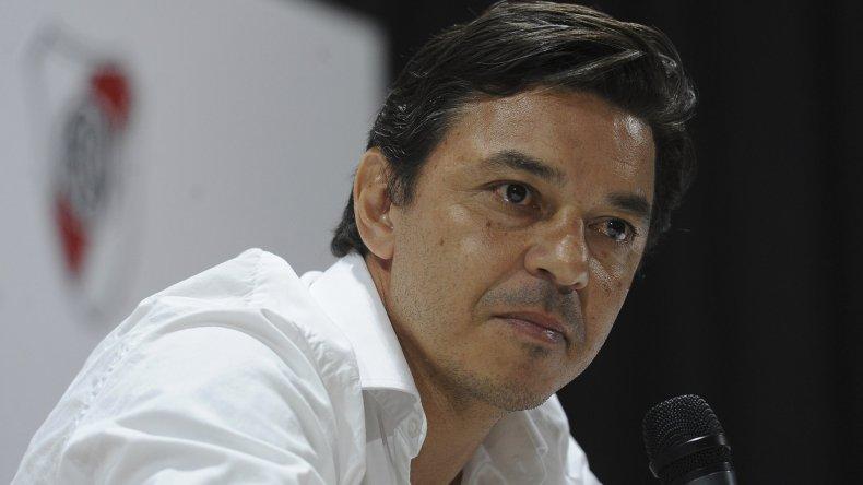 Final de la novela en Núñez. Marcelo Gallardo informó ayer en rueda de prensa que continúa un año más en River.