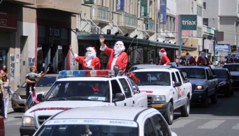 Por el viento, se suspendió el recorrido de Papá Noel en Comodoro