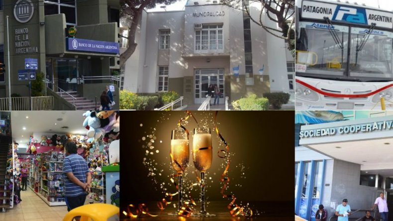 Qué servicios funcionarán durante las fiestas de fin de año en Comodoro