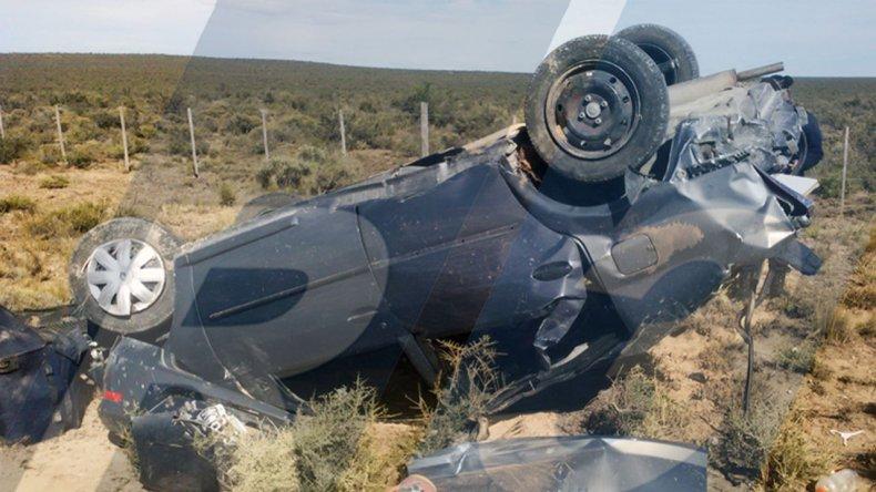 Una nena de 3 años murió en un vuelco sobre Ruta 3