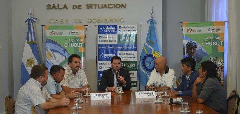 El anuncio de la Primera Fiesta Provincial del Deporte Chubutense se realizó ayer en horas de la mañana en la capital provincial.