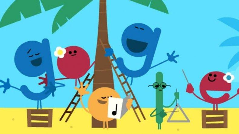 Google celebra las fiestas con un particular doodle