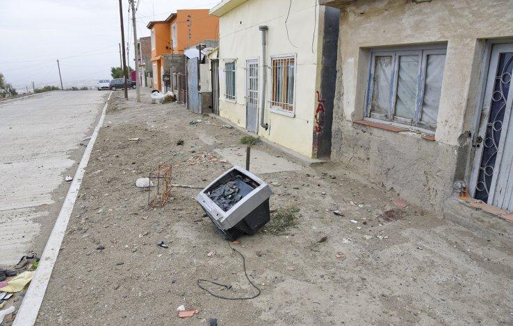 El lugar donde fue encontrado el cuerpo de Oscar Mansilla el jueves a la madrugada.