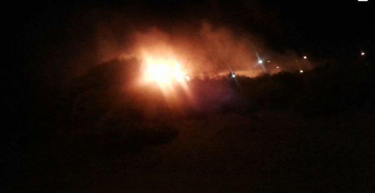 Incendio en pastizales en Bella Vista Sur: Foto: Fiorella