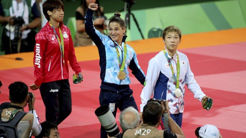Paula Pareto ganó por primera vez una medalla de oro en los Juegos Olímpicos.