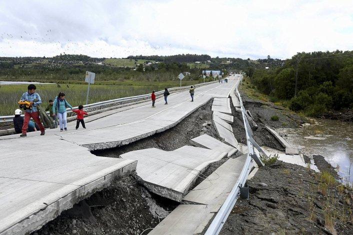 Cuantiosos daños materiales dejó el terremoto en el sur de Chile.