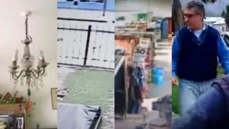 Las réplicas en Esquel causaron pánico y todo quedó registrado