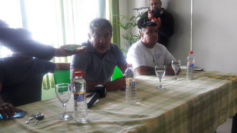 Conferencia de prensa de Camioneros. Foto: vía Twitter Guadalupe Acre