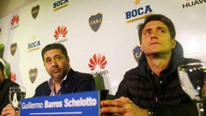 Guillermo Barros Schelotto y Daniel Angelici buscan ponerse de acuerdo en varios puntos.
