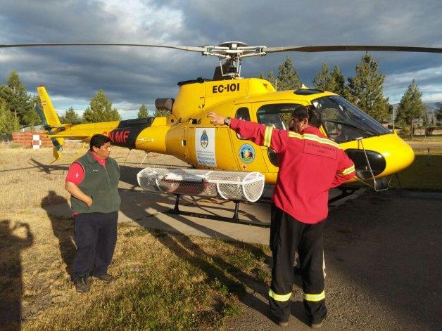 Provincia suma un nuevo helicóptero y avión hidrante