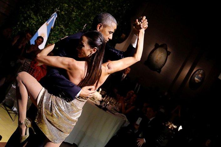 Barack Obama baila un tango en Buenos Aires: Foto: Mohammed Abed AFP