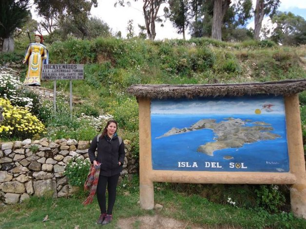 Mi postal preferida  de Bolivia: La Isla del Sol
