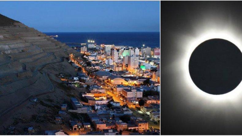 Comodoro será la ciudad privilegiada que verá el primer eclipse solar del año