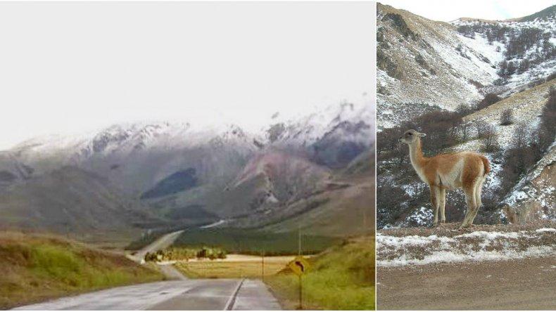 En pleno verano, la nieve sorprendió a Esquel
