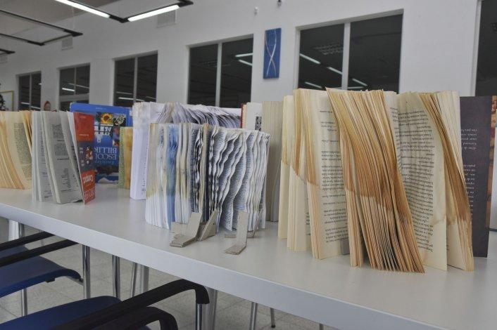 Cientos de libros arruinados por una inundación