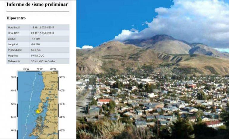 Esquel tembló esta tarde por un fuerte sismo en Chile