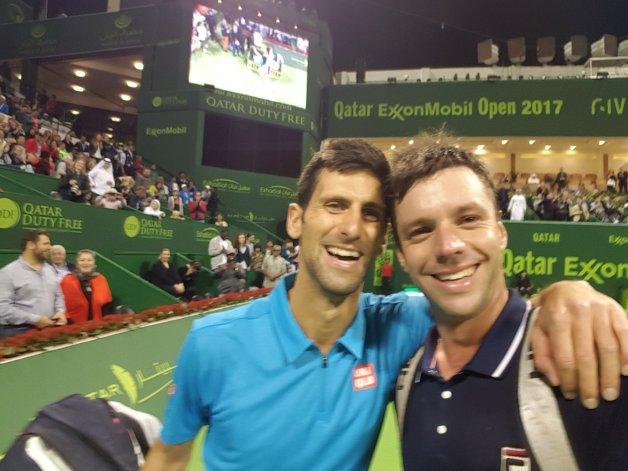 Zeballos perdió contra Djokovic y le pidió una selfie en la cancha