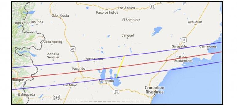 El gráfico elaborado con datos de la NASA