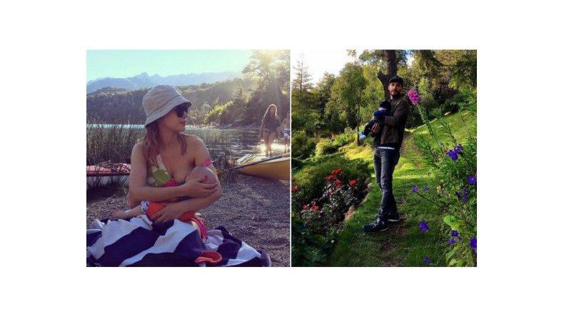 Las fotos de Celeste Cid con Michel Noher y Antón en Bariloche