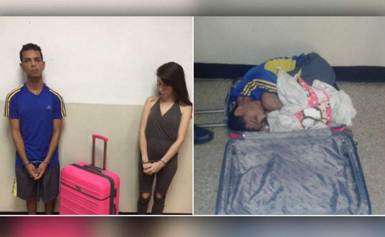 Escondió a su marido en una valija para sacarlo de la cárcel