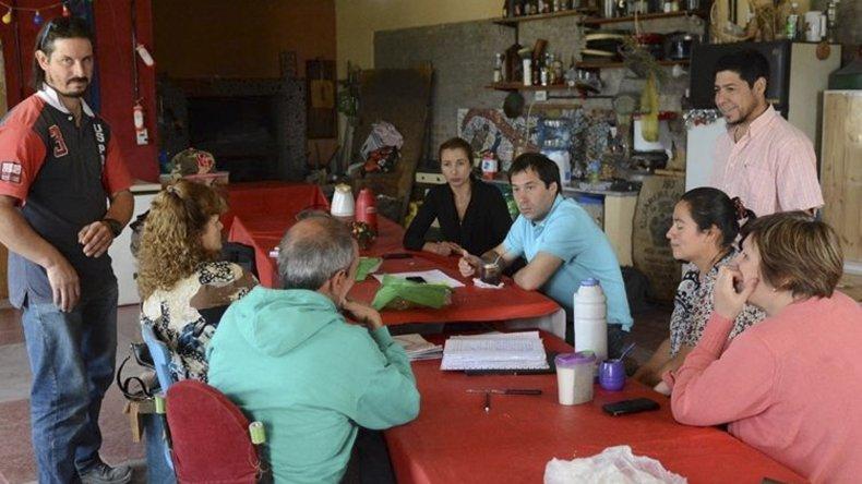 La reunión que el viceintendente matuvo con la comisión vecinal de Kilómetro 17.