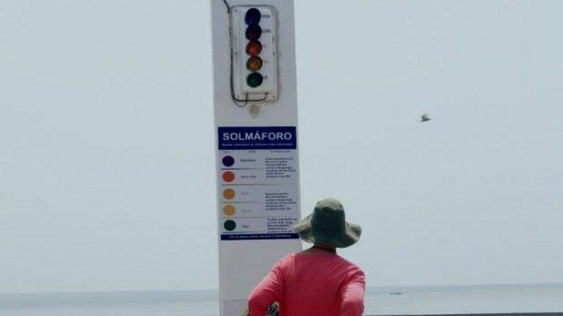 Instalarán  un solmáforo en la playa de Puerto Pirámides