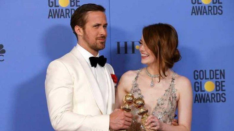 Ryan Gosling y Emma Stone ganaron respectivamente como mejores actores en la categoría musical o comedia.