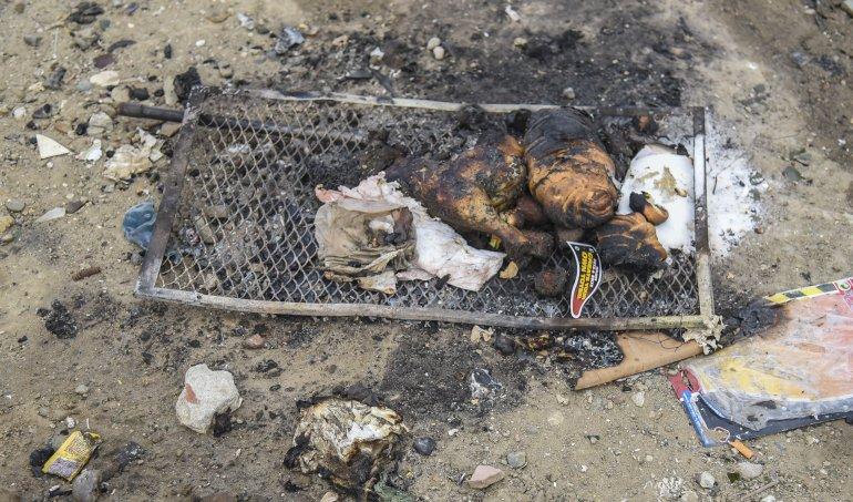 Cocinaban un asado y se incendió el predio de empresa de contenedores