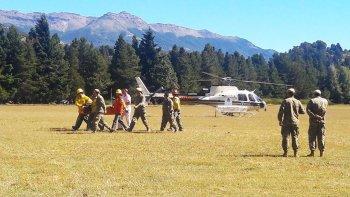 los militares accidentados en el volcan lanin siguen en estado critico