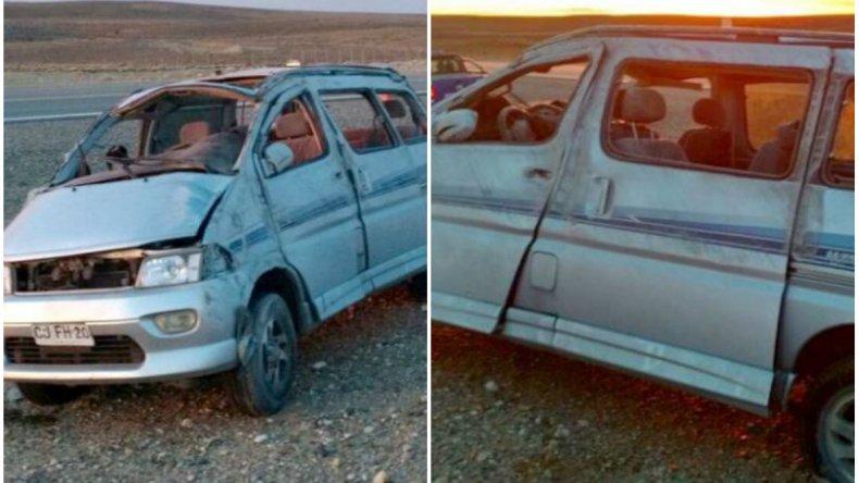 Una familia chilena volcó en Ruta 3: cuatro personas heridas