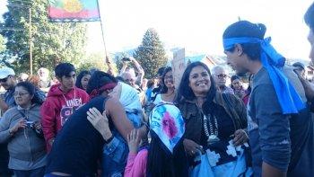 liberaron a los tres integrantes del lof de resistencia mapuche cushamen que seguian detenidos
