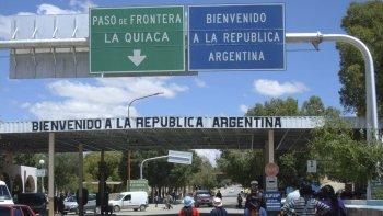 Uno de los pasos fronterizos entre la Argentina y Bolivia.