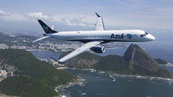Azul se sumará a Gol y Latam, empresas brasileñas que ya vuelan a la Argentina.