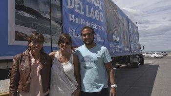 El camión de El Calafate promocionó ayer en Comodoro Rivadavia la Fiesta del Lago que se realizará en febrero.