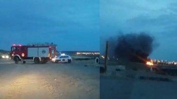 prendieron fuego cubiertas en el kartodromo de km 9