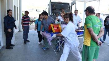 Así llegaban las personas heridas al Hospital Regional esta mañana.