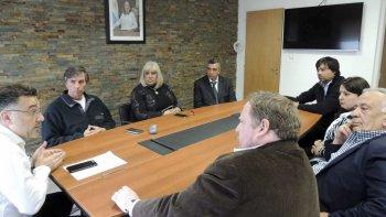 Directivos de la UTE se reunieron con funcionarios provinciales y representantes de proveedores, para acordar un cronograma de pago de deudas a estos últimos.