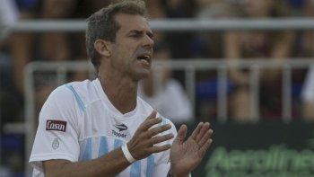 Daniel Orsanic, capitán del equipo argentino que viene de conquistar la primera Copa Davis para el país.