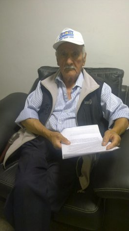 Rupercio Delgado compartió su drama con un periodista de El Patagónico.