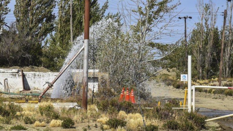La pérdida detectada en el antiguo sistema de acueductos en el Puesto La Mata.